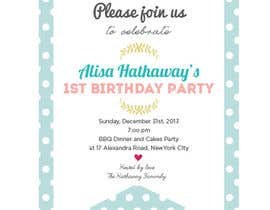#52 for Design some Stationery for Baby 1st Birthday Invitation by cherrycherrie