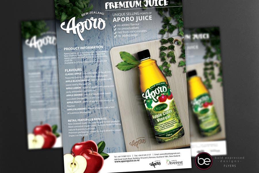 Penyertaan Peraduan #                                        25                                      untuk                                         A4 flyer design for juice