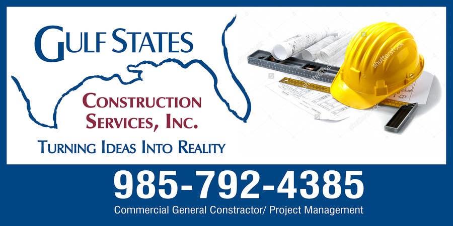 Kilpailutyö #36 kilpailussa Design a Construction Company's Sign