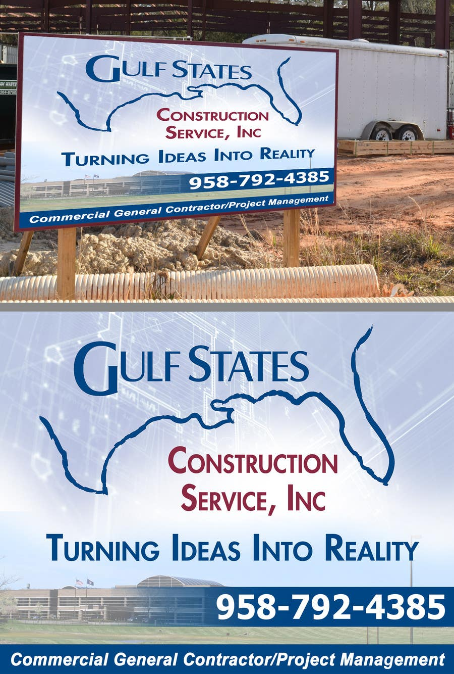 Kilpailutyö #42 kilpailussa Design a Construction Company's Sign