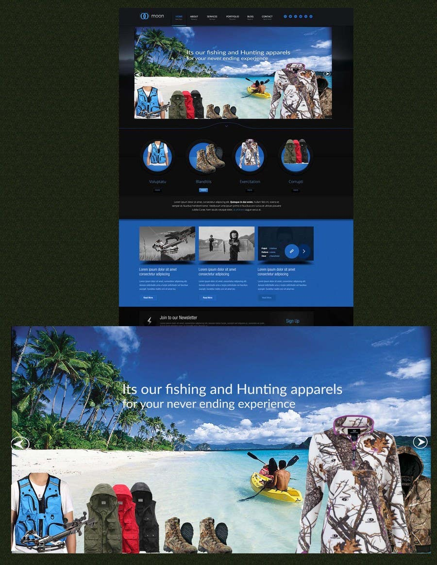 Contest Entry #                                        9                                      for                                         Sliding banner photos for a hunting and fishing website