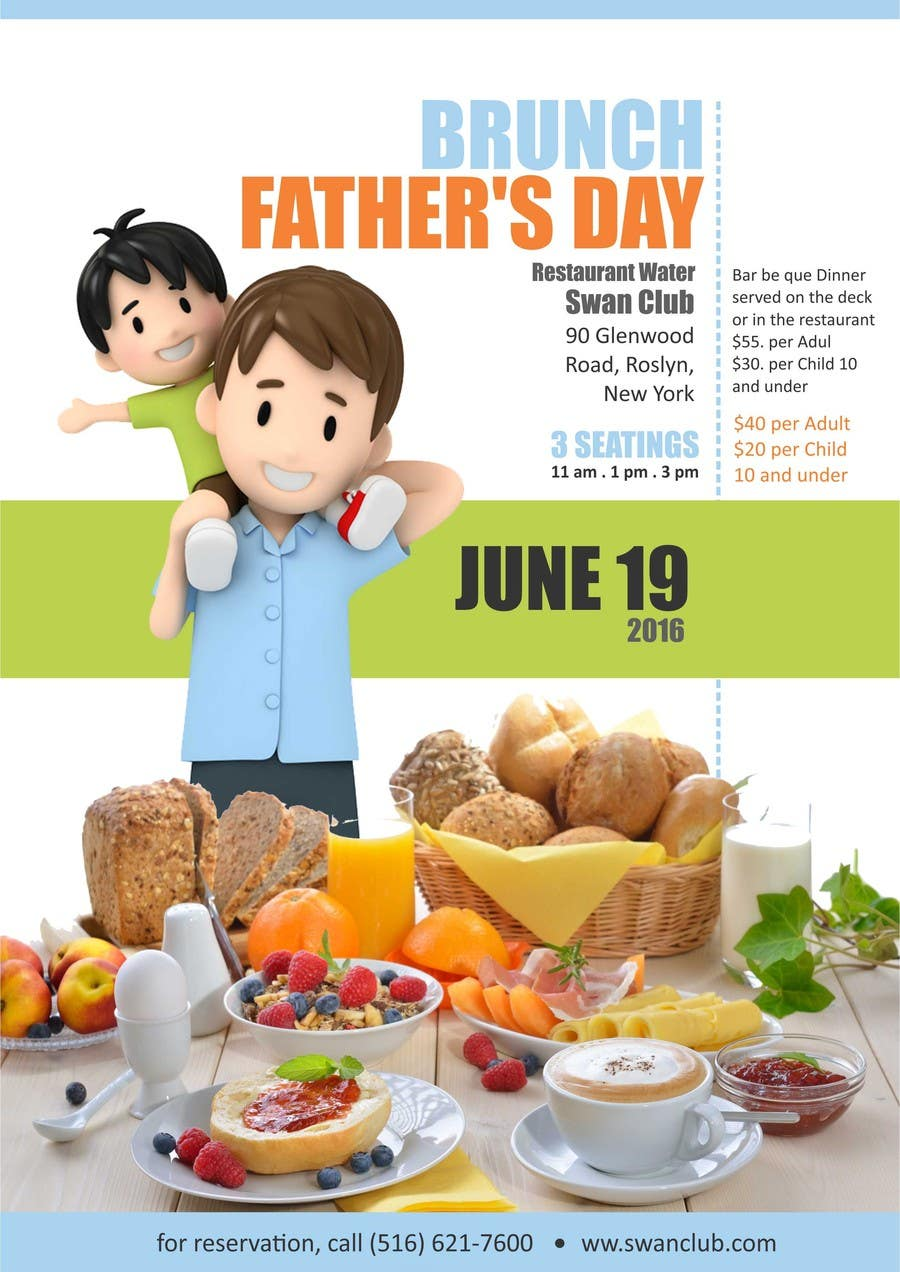 Contest Entry #                                        4                                      for                                         Father's Day Flyer for our Restaurant