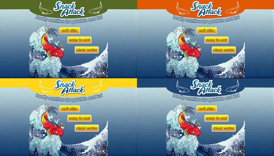 Конкурсная заявка №28 для Label Design for Snack Attack - A new Fishfood label