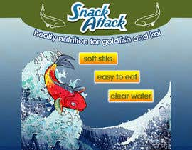 #27 untuk Label Design for Snack Attack - A new Fishfood label oleh lihia