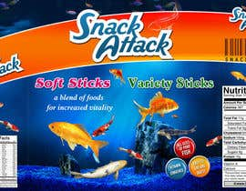 #23 untuk Label Design for Snack Attack - A new Fishfood label oleh harjeetminhas