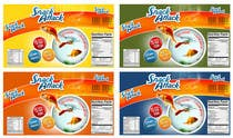 Label Design for Snack Attack - A new Fishfood label için Graphic Design8 No.lu Yarışma Girdisi