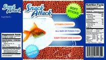 Label Design for Snack Attack - A new Fishfood label için Graphic Design15 No.lu Yarışma Girdisi