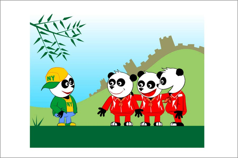 Contest Entry #6 for Illustration Design for Animation illustration for Panda cubs.