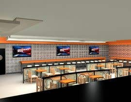 artseba185 tarafından 3D MAX render for a small fast food restaurant layout için no 1