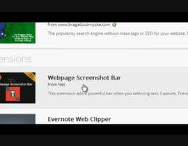#4 untuk URGENT! Create a Video PROMO for Webpage Screenshot Bar oleh cstudiosnation