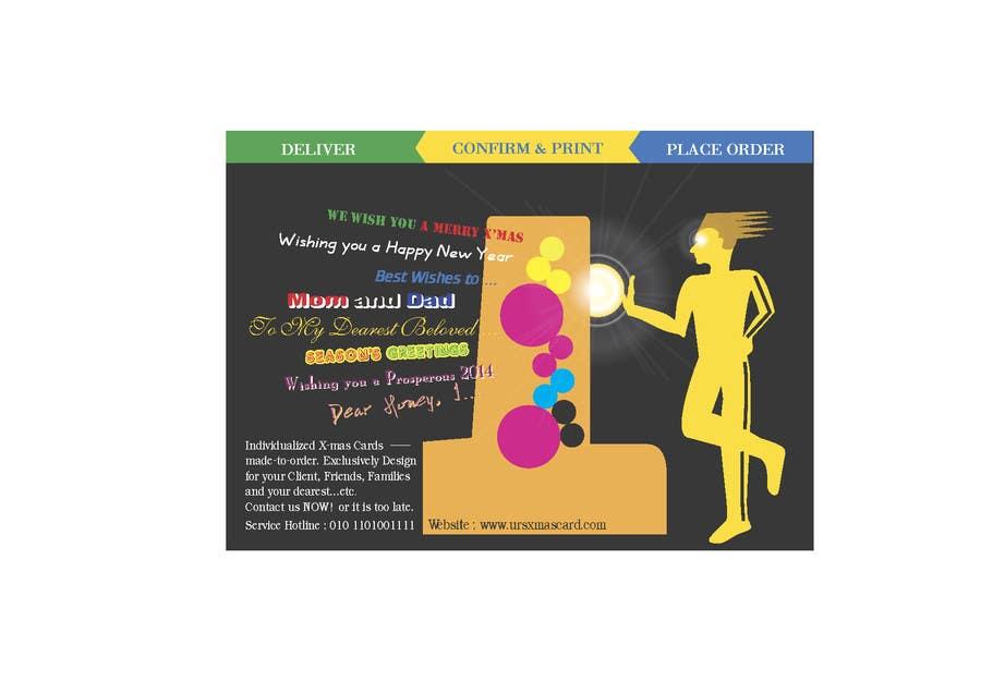 #1 for Advertising X-mas postcard design by davidliyung