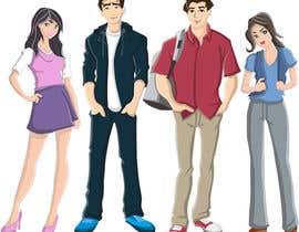 erwantonggalek tarafından Design 4 characters - 2 male and 2 female için no 1