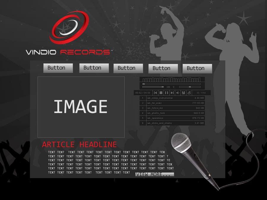 Participación en el concurso Nro.                                        4                                      para                                         Website Design for Vindio Records, LLC a record label