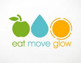 #387 para Logo Design for EAT | MOVE | GLOW por DeadPixel