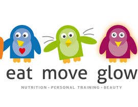 #320 for Logo Design for EAT | MOVE | GLOW by JoGraphicDesign