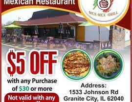 """Nro 15 kilpailuun Design Small Print Ad for Mexican Restaurant Ad (2.6"""" x 2.6"""") käyttäjältä jawadbhatty"""