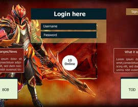 #7 for Design MMORPG landing page by mdmonirhosencit