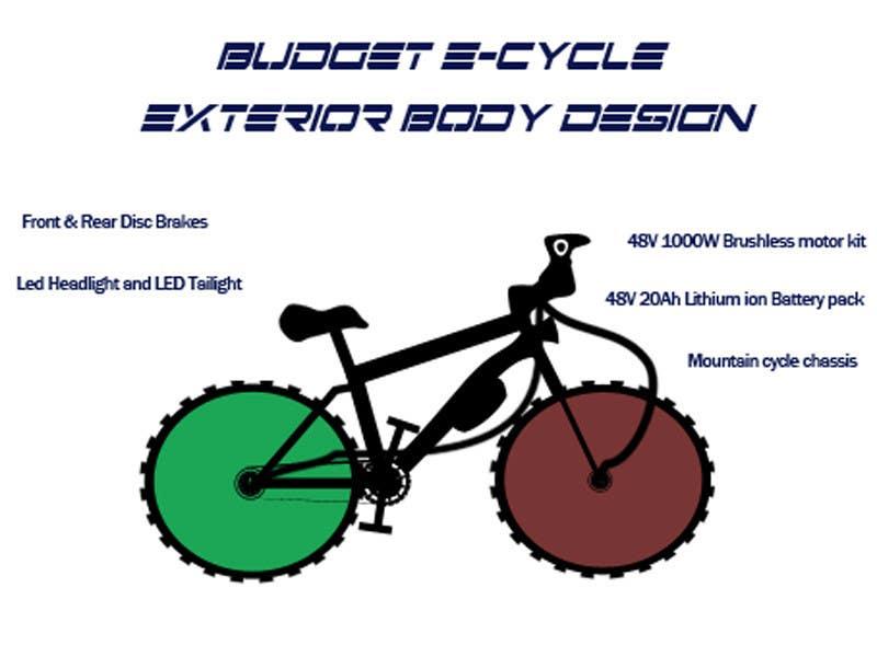 Contest Entry #                                        4                                      for                                         Budget E-Cycle Exterior Body design
