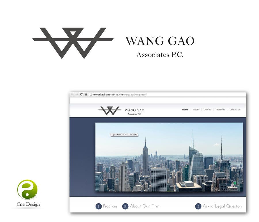 Contest Entry #15 for Design a Logo for Wang Gao & Associates, PC.