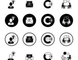 Nro 31 kilpailuun Design 4 Icons for our Contact us page käyttäjältä shaggyshiva