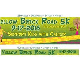 Nro 6 kilpailuun Yellow Brick Road 5K Banner/Billboard käyttäjältä kalart
