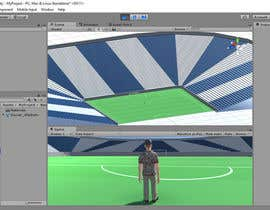 #5 for Create Low Poly Football/Soccer Stadium with Goalposts and pitch texture by DN1976