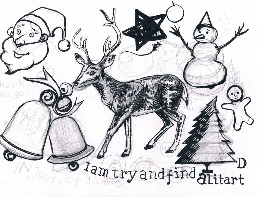 Bài tham dự cuộc thi #34 cho Cute Christmas Drawings