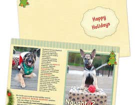 #7 untuk Design a 5x7 Christmas Card for Southeast German Shepherd Rescue oleh tmorozova69