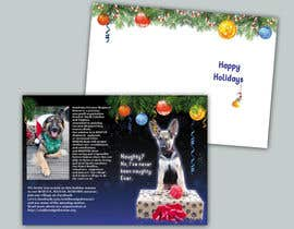 #13 untuk Design a 5x7 Christmas Card for Southeast German Shepherd Rescue oleh tmorozova69