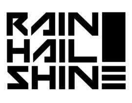 Nro 1 kilpailuun Design a T-Shirt RAIN HAIL SHINE käyttäjältä led3vi4nt