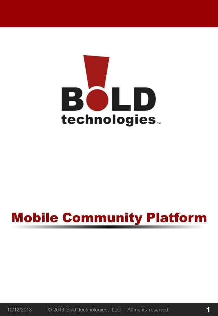 #12 for Design a Brochure for BOLD! Mobile Community Platform by SeelaHareesh