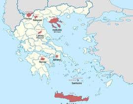 Nro 7 kilpailuun Map of Greek Wine Regions käyttäjältä luutrongtin89