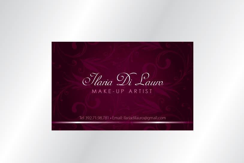 Конкурсная заявка №250 для Business Card Design for Ilaria Di Lauro - Make-up artist