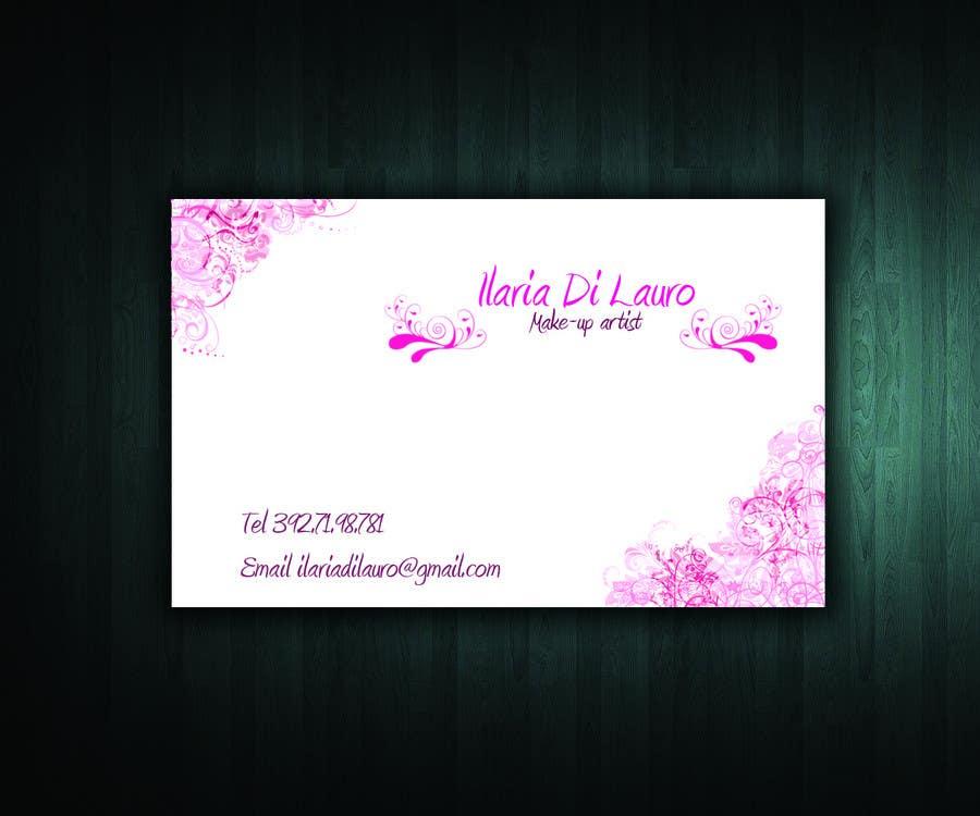 Inscrição nº                                         246                                      do Concurso para                                         Business Card Design for Ilaria Di Lauro - Make-up artist