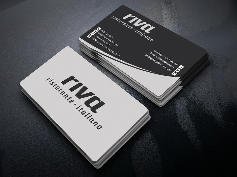 Kilpailutyö #22 kilpailussa Design a restaurant business card