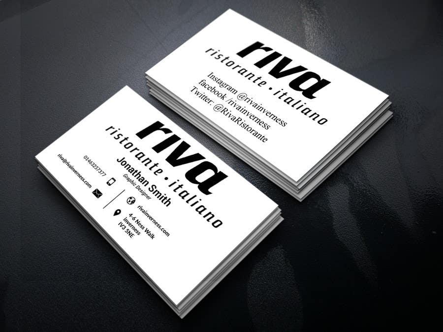 Kilpailutyö #2 kilpailussa Design a restaurant business card