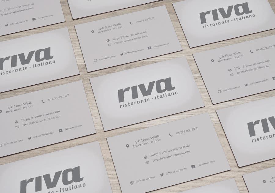 Kilpailutyö #9 kilpailussa Design a restaurant business card
