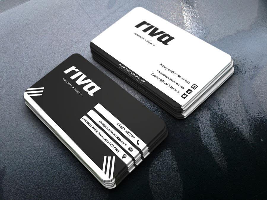 Kilpailutyö #18 kilpailussa Design a restaurant business card