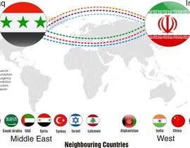#5 для Navigational Compass Mini-Infographic for Middle East Research Paper showing Country Relationships от DYNAMICWINGS