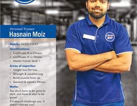 Nro 3 kilpailuun A4 poster - personal trainer profile käyttäjältä swarajmgraphics