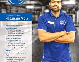 Nro 6 kilpailuun A4 poster - personal trainer profile käyttäjältä swarajmgraphics