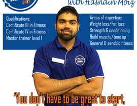 Nro 4 kilpailuun A4 poster - personal trainer profile käyttäjältä williambaraka69