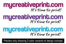 Graphic Design Kilpailutyö #114 kilpailuun Logo Design for mycreativeprint.com