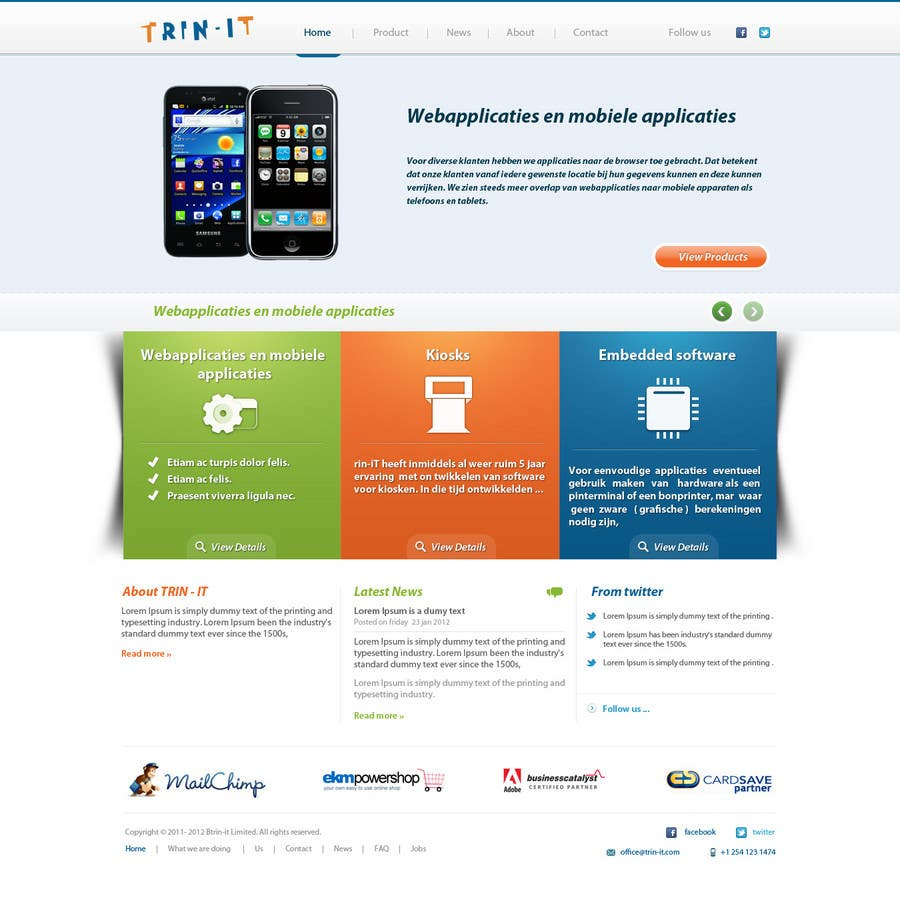 #26 for Website Design for Trin-iT Software Solutions by emdes19