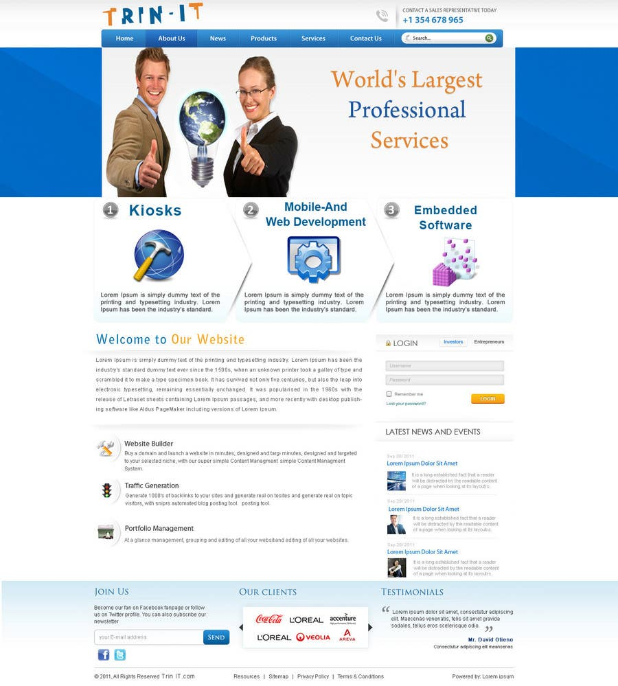 #35 for Website Design for Trin-iT Software Solutions by monikjee