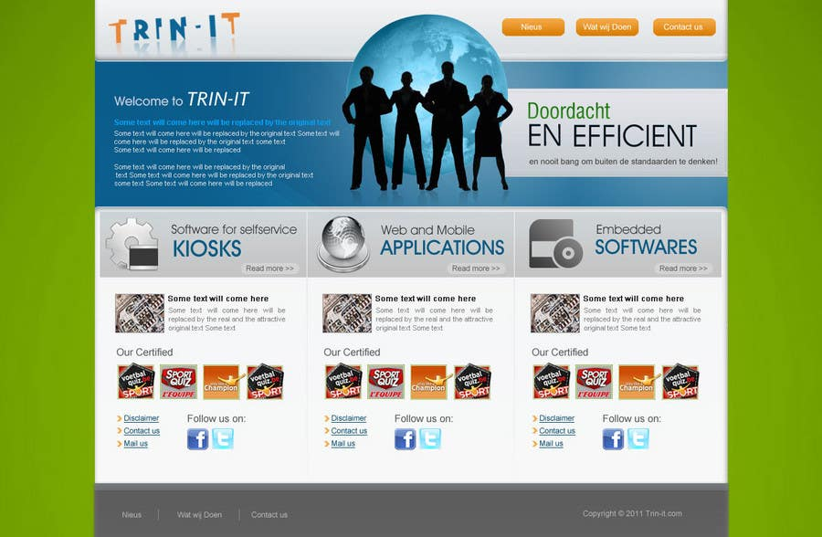 #30 for Website Design for Trin-iT Software Solutions by dreamsweb