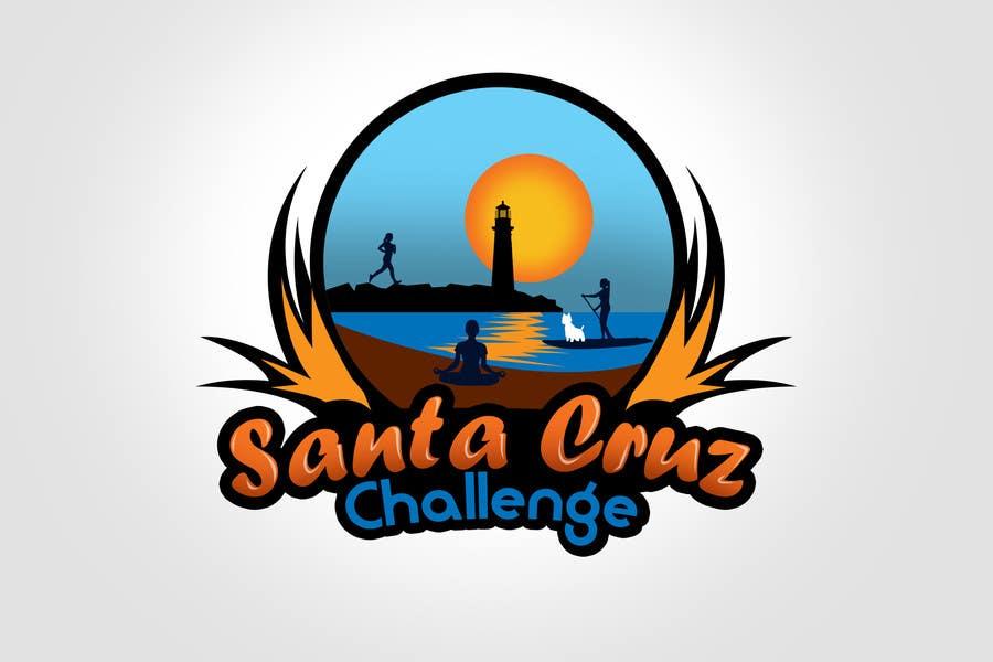 #83 for Illustration Surfer Sunset Santa Cruz Dog LOGO contest by rogeliobello