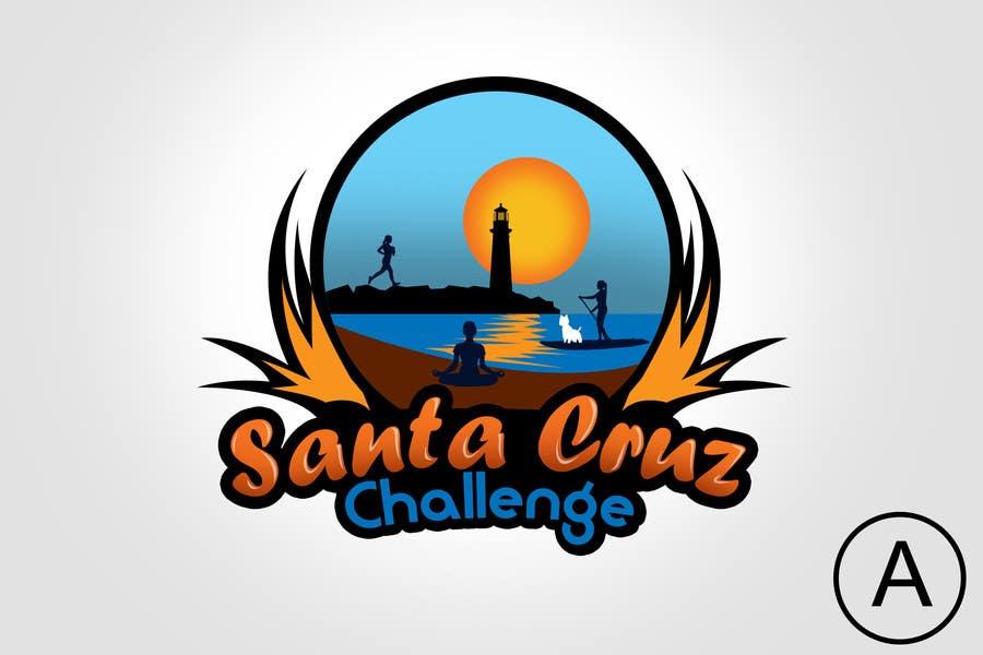 #94 for Illustration Surfer Sunset Santa Cruz Dog LOGO contest by rogeliobello