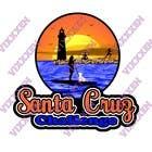 Contest Entry #88 for Illustration Surfer Sunset Santa Cruz Dog LOGO contest