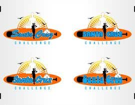 nº 111 pour Illustration Surfer Sunset Santa Cruz Dog LOGO contest par eremFM4v